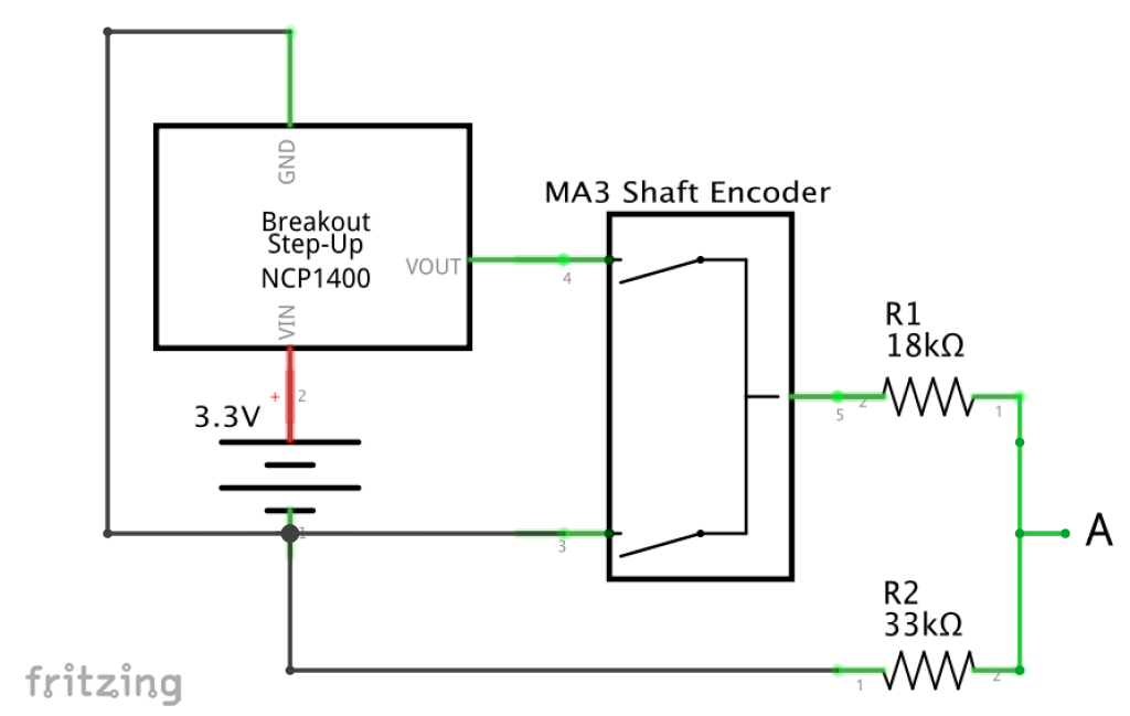 Step up and encoder schematic